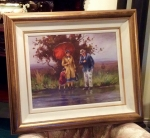 "Framed Irish Painting By Donal McNaughton ""Waiting"" - Click to Enlarge"
