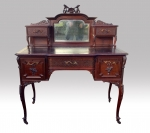 Superb Quality Antique Mahogany Bon Heur Du Jour Desk - Click to Enlarge