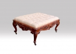 Fabulous large Antique Mahogany Upholstered Stool - Click to Enlarge