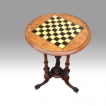 Very original antique walnut  tri pillar games table - Click to Enlarge