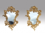 Fabulous pair gilted  bronze rococo style wall mirrors  - Click to Enlarge