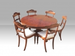 Antique Circular Mahogany  Breakfast Dining Table - Click to Enlarge