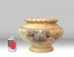 Magnificent Large Antique Blush Ivory Royal Worcester Jardinere  - Click to Enlarge