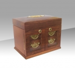 Fabulous Quality Figured Walnut Antique Jewellery Box  - Click to Enlarge