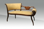 A small antique mahogany inlaid Settee,window seat - Click to Enlarge