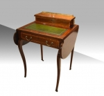 Antique small inlaid mahogany writing desk.  - Click to Enlarge