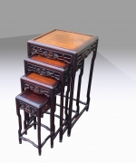 A superb nest of four antique Chinese occasional tables - Click to Enlarge
