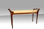 An antique mahogany window seat/duet stool. - Click to Enlarge