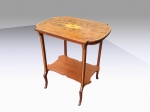 Fabulous Antique Inlaid And Marquetry Mahogany Occasional Table  - Click to Enlarge