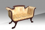 Magnificent Antique Regency Magogany Settee Of Small Proportions.  - Click to Enlarge
