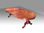 Antique Victorian pedestal extending oval mahogany dining table - Click to Enlarge