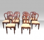 Superb Set Of Ten Antique Mahogany Dining Chairs  - Click to Enlarge