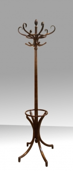Antique Bentwood Hall Coat and Hat Stand - Click to Enlarge