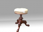 Quality Walnut Revolving Antique Organ,Dressing Table Stool.  - Click to Enlarge