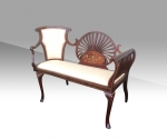 Fantastic Quality Inlaid Mahogany Antique Settee  - Click to Enlarge