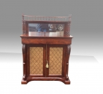 A fine quality William IV mahogany narrow  chiffonier cabinet  - Click to Enlarge