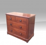 Small antique low mahogany chest of drawers - Click to Enlarge