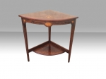Quality inlaid rosewood antique corner table - Click to Enlarge