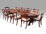 Rare Set Of Ten Antique Period Regency Dining Chairs  - Click to Enlarge