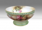 Beautiful Antique Royal Worcester Hand Painted Bowl - Click to Enlarge