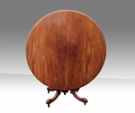 Super antique mahogany circular dining,breakfast, hall table. - Click to Enlarge