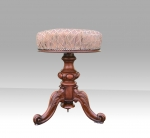 Superb Antique Walnut Revolving dressing Table Stool  - Click to Enlarge