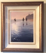 Framed Irish Painting By Gregory Moore (Mussenden at Benone) - Click to Enlarge