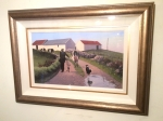 Framed Irish Painting By Gregory Moore  (Milking Time) - Click to Enlarge