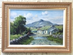 Superb Charles McAuley Oil Painting of Tievebulliagh,Glen Ballyenion.  - Click to Enlarge
