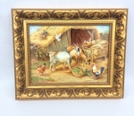 Stunning Oil Painting on Porcelain by Royal Worcester artist F Clark. - Click to Enlarge