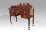 Lovely Mahogany Irish Georgian Side Board Of Very Neat Proportions - Click to Enlarge