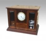 Superb Quality Antique Inlaid Mahogany Pipe Smokers Cabinet Complete With Clock Time Piece - Click to Enlarge