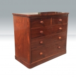 Superb quality antique mahogany chest of drawers.  - Click to Enlarge