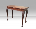 Quality Irish Chippendale Design Mahogany Hall Table/Window Table stamped James Hicks Dublin - Click to Enlarge