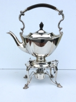 Fine Quality Antique Solid Silver Spirit Kettle . - Click to Enlarge