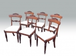 Fabulous Set Of Six Antique Regency Rosewood Dining Chairs - Click to Enlarge