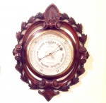 Superb Quality Antique Mahogany  Negretti & Zambra Aneroid Barometer  - Click to Enlarge