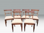 Quality Set Of Six Antique Period Regency Rosewood Dining Chairs  - Click to Enlarge