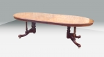 Superb Rare Victorian Antique Mahogany Oval Extending Dining Table. - Click to Enlarge