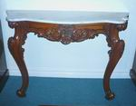 Victorian Walnut Marble Top Consul Table - Click to Enlarge