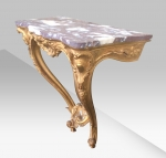 Quality Carved Antique Gilt Wood Console Table - Click to Enlarge