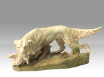 Antique Royal Dux figure of Hunting dog with game - Click to Enlarge