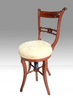 Antique Painted Satinwood Revolving Music Chair - Click to Enlarge