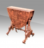 "Beautiful  Antique Burr Walnut  ""Baby"" Sutherland Table - Click to Enlarge"