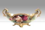 Beautiful Royal Worcester Boat Shaped Vase  - Click to Enlarge