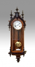 Antique vienna wall clock, - Click to Enlarge