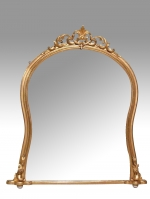 Quality Large English Antique Gilt Overmantle Mirror  - Click to Enlarge