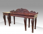 Period Regency Inverted Breakfront Cuban Mahogany Serving Console Hall Table Attributed to Gillows  - Click to Enlarge