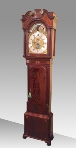 Exceptional Inlaid Mahogany 18th Century Longcase Clock By Iames Richards Liverpool Featuring An Alarm And Ferguson Tidal Dial - Click to Enlarge