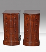 Fine quality pair of Antique Victorian bow front mahogany bedside chests of drawers - Click to Enlarge